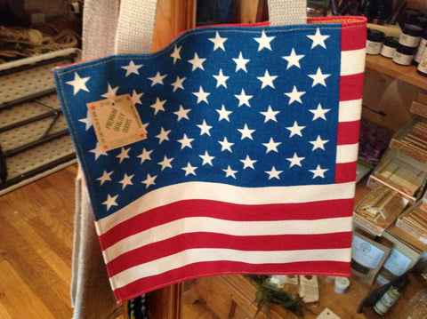 Hempy's - Hemp  American Flag Shouldr Bag