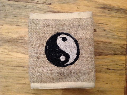 Bi-Fold Wallet with Yin-Yang Symbol