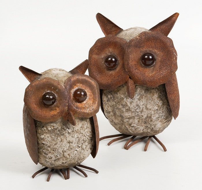 Polyresin Owls small