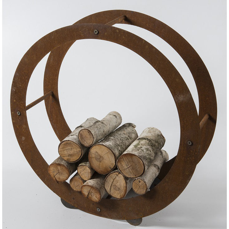 Round wood holder with edge