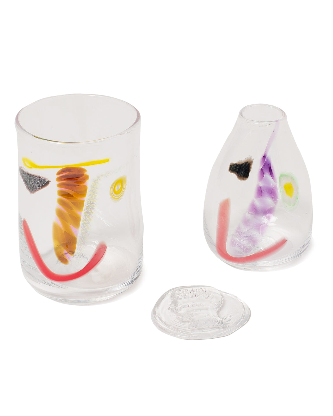 Brain Dead X Face Vessel Glass Vase Set - Clear