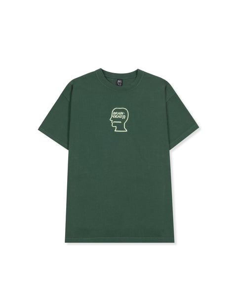 Logo Head Embroidered Heavyweight T-Shirt - Dark Green
