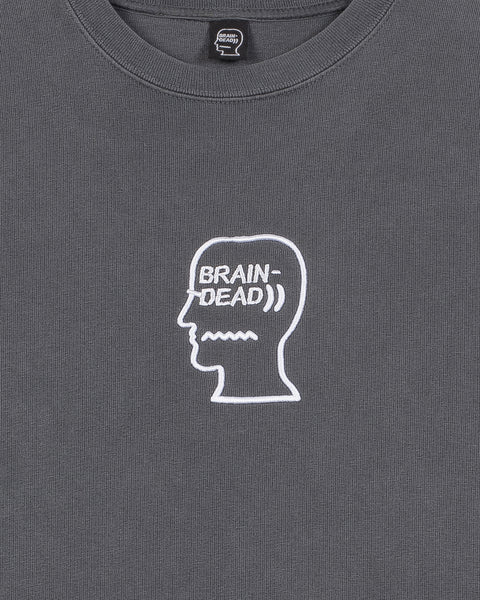 Logo Head Embroidered Heavyweight T-shirt - Grey