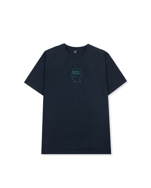 Logo Head Embroidered Heavyweight T-Shirt - Navy