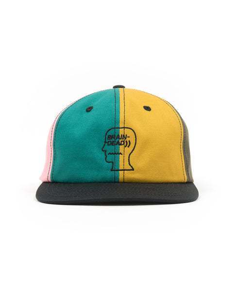 5 Panel Logo Head Strap Back Hat - Multi