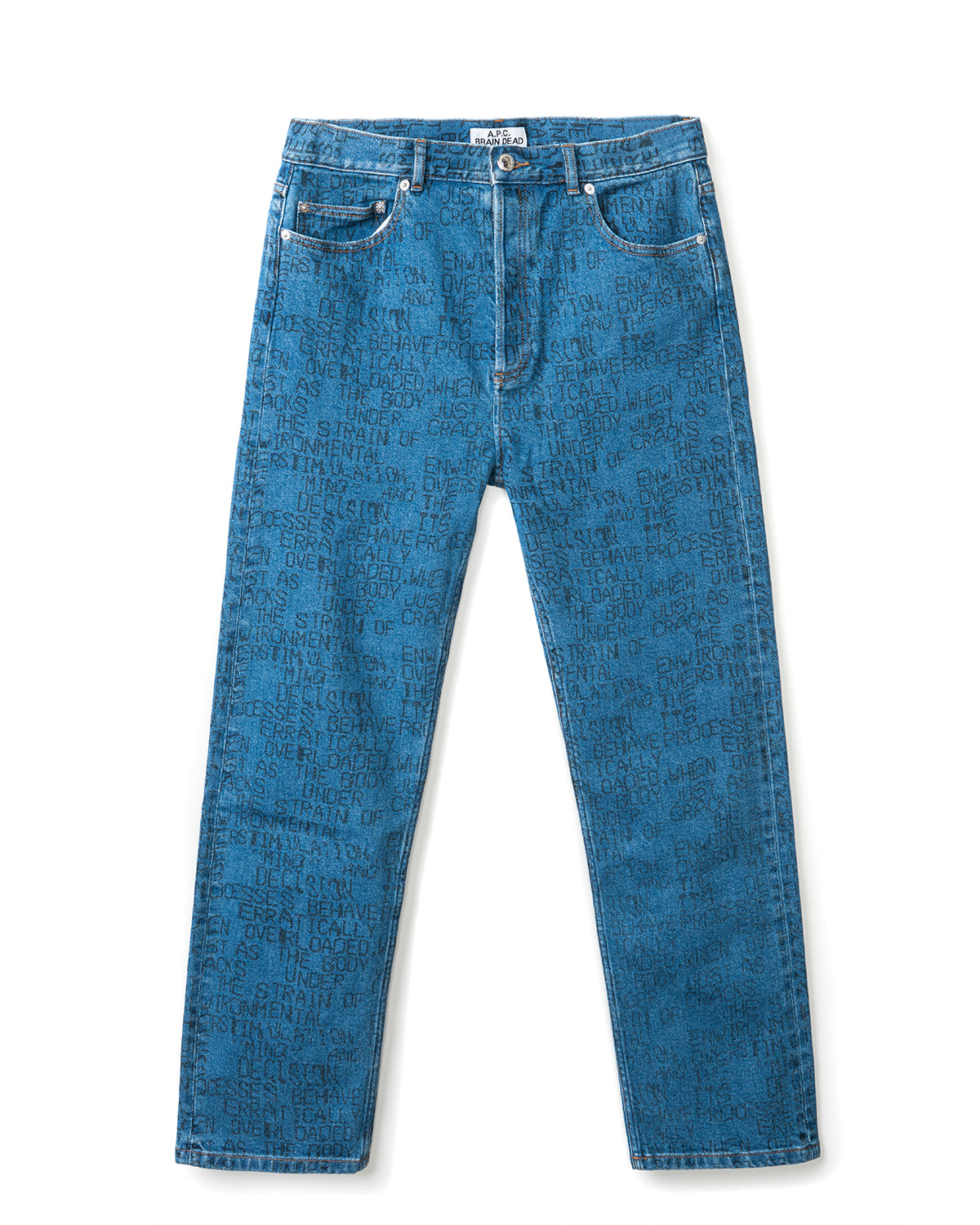 Men's Crypt Japanese Denim Jeans A.P.C. x Brain Dead