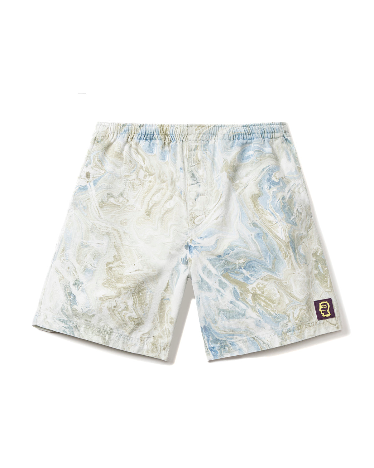 Beach Shorts - Blue Marble Dye - Brain Dead
