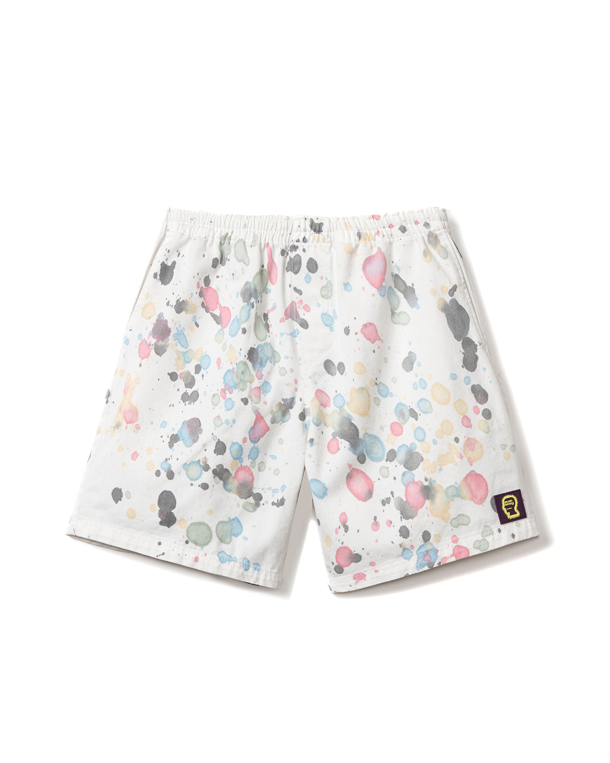 Beach Shorts - Multi Splatter Dye - Brain Dead