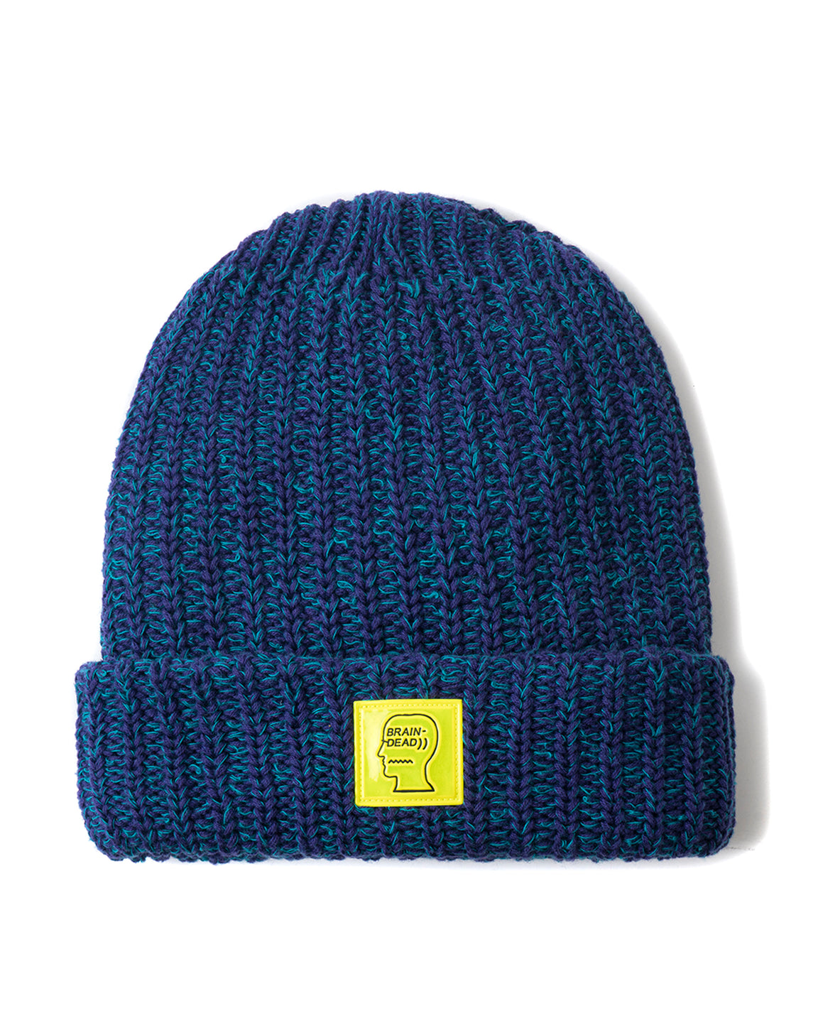 Safety Logo Patch Beanie - Purple/Teal