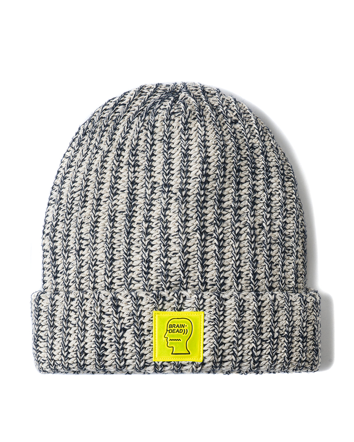 Safety Logo Patch Beanie - Heather/Navy