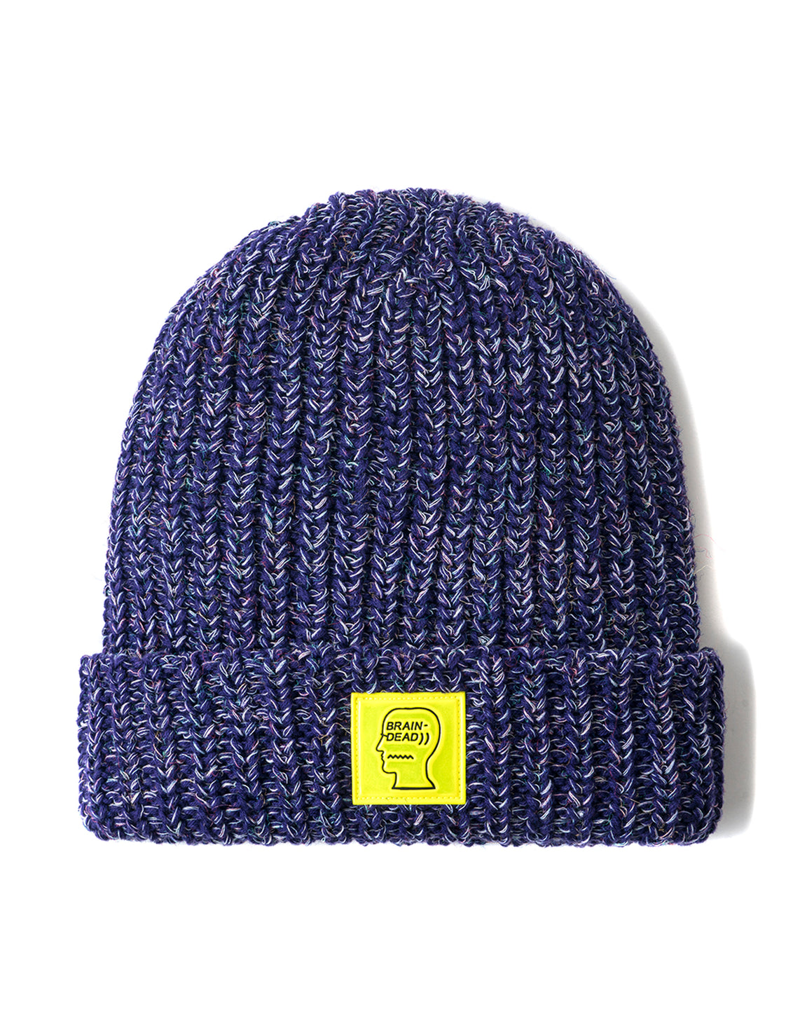 Safety Logo Patch Beanie - Frosted Purple