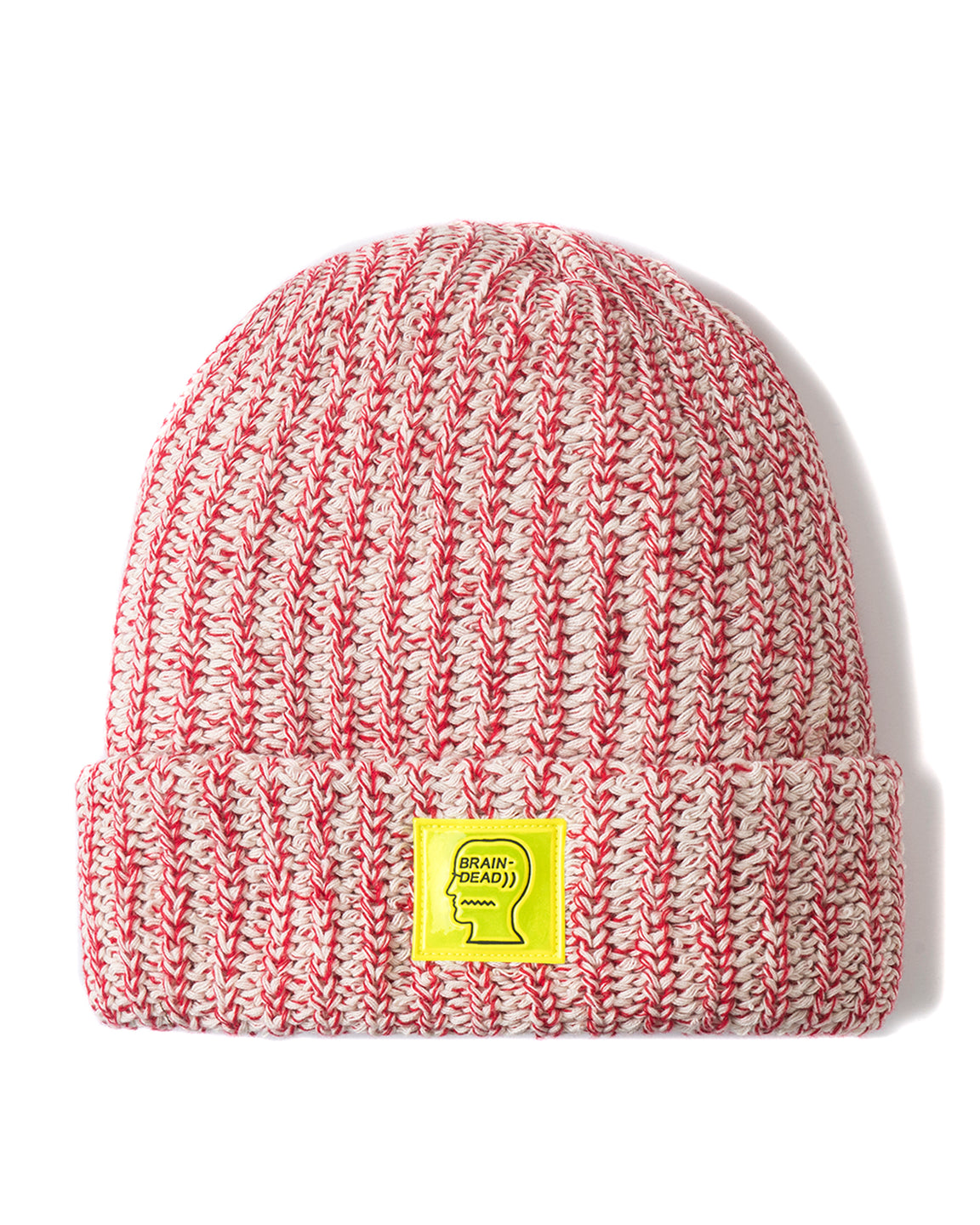 Safety Logo Patch Beanie - Red Heather