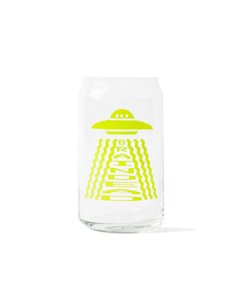 Communion Vessel Beer Can Glass - lime green