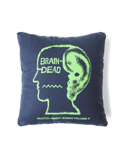 ambient pillow - navy - brain dead - front