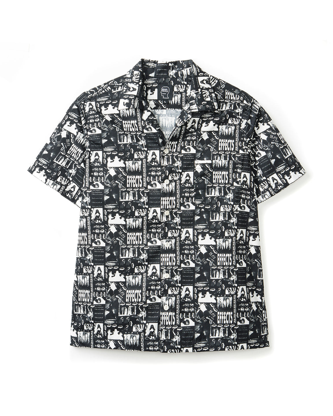 Aloha Shirt - Effects Print Black