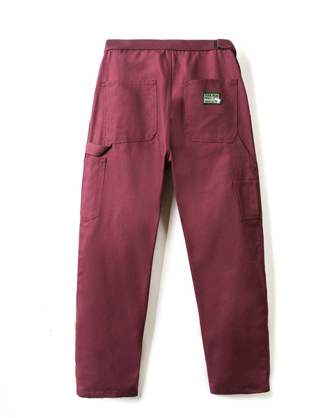 Hard/Software Velcro Carpenter Pant - Burgundy Canvas - Brain Dead