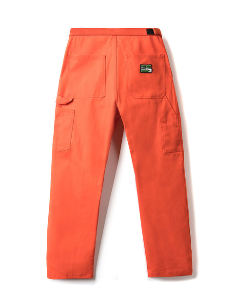 Hard/Software Velcro Carpenter Pant - Orange Canvas - Brain Dead