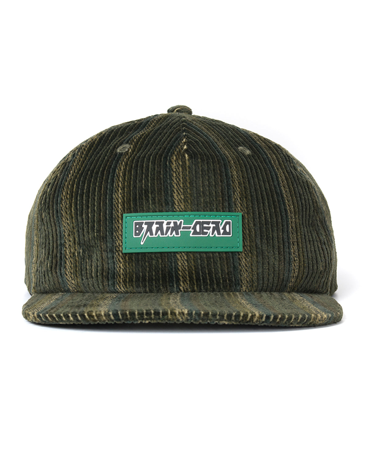 Cord Five Panel Hat - Green - Brain Dead