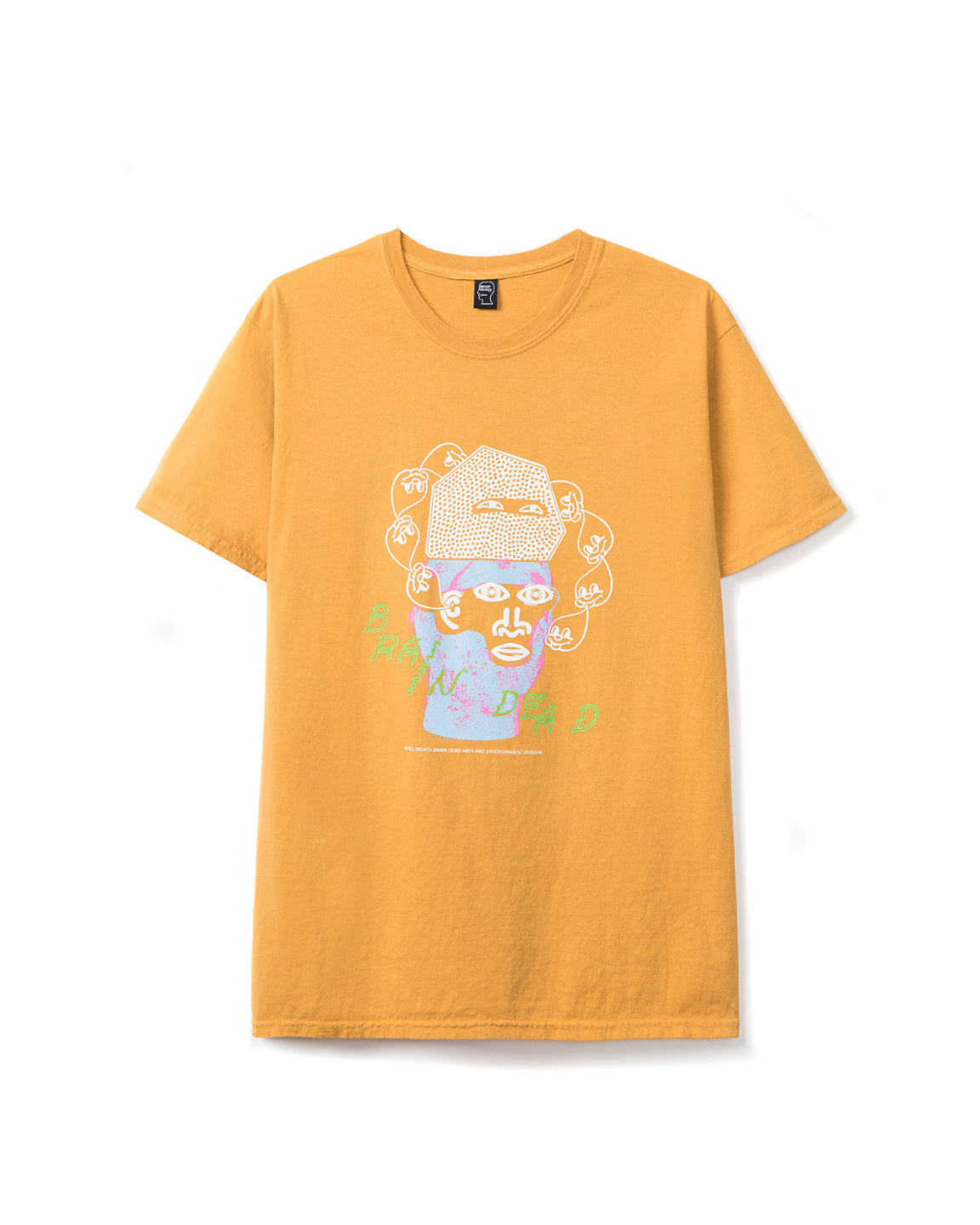 Cure T-shirt - Yellow - Brain Dead