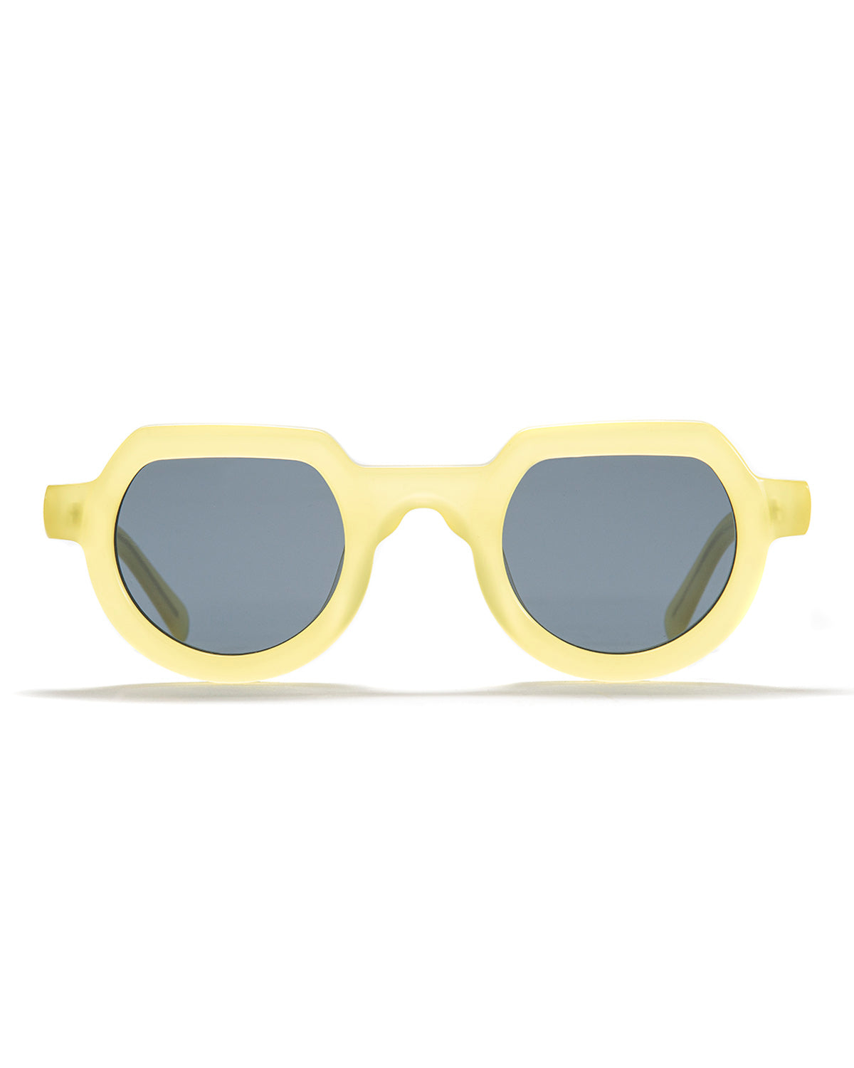 Tani Sunglasses - Translucent Yellow - Brain Dead