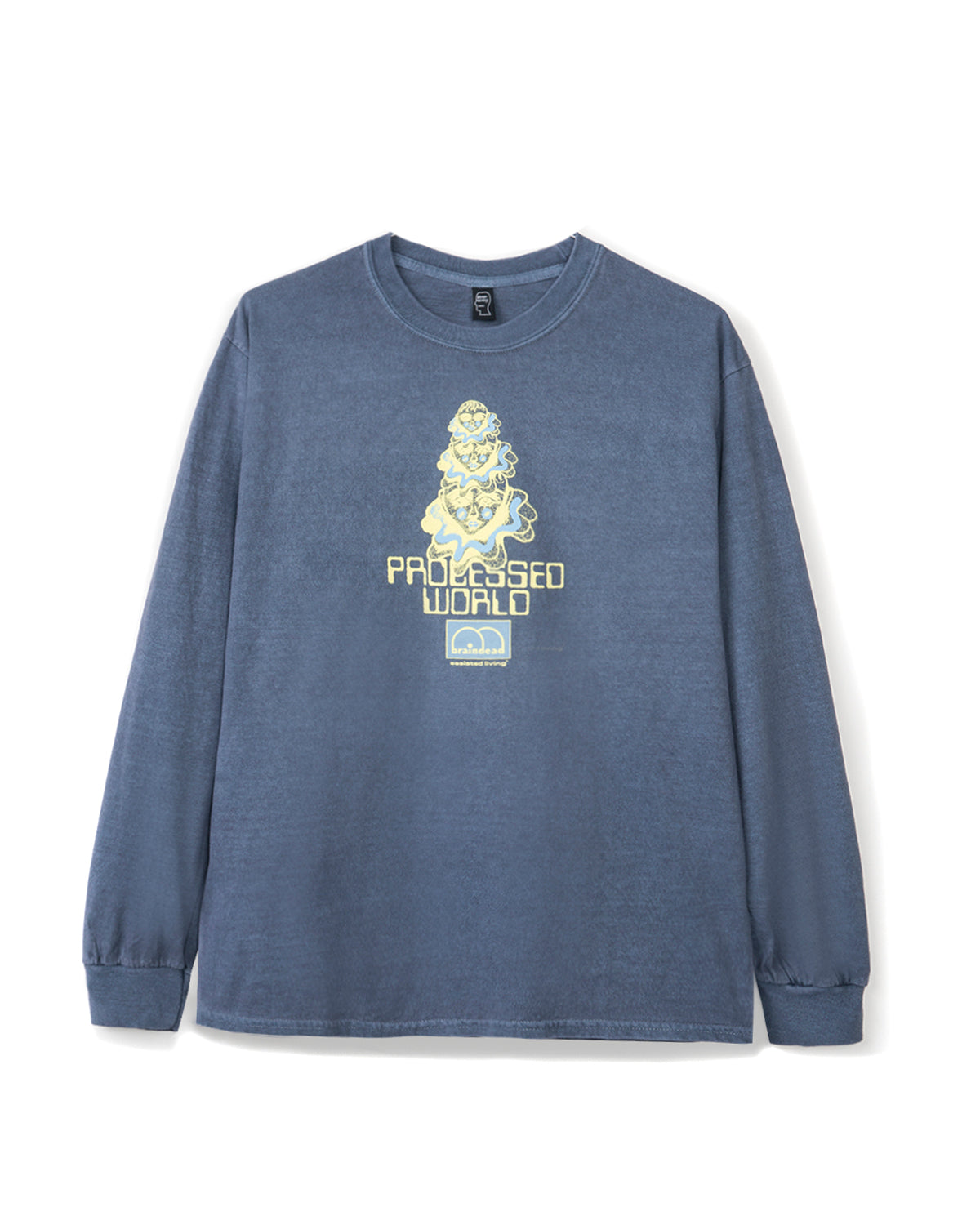 Processed World Long Sleeve - Washed Blue