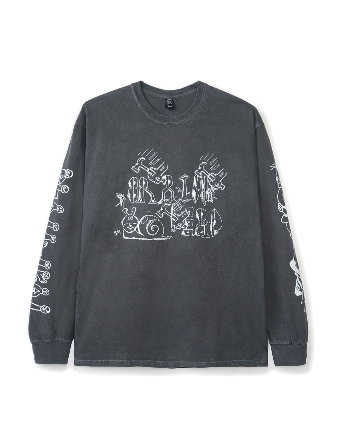 Leon's Girls Long Sleeve - Washed Black