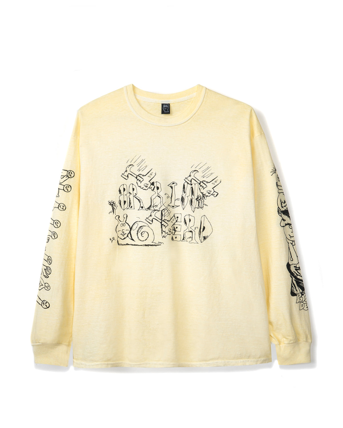Leon's Girls Long Sleeve - Washed Yellow