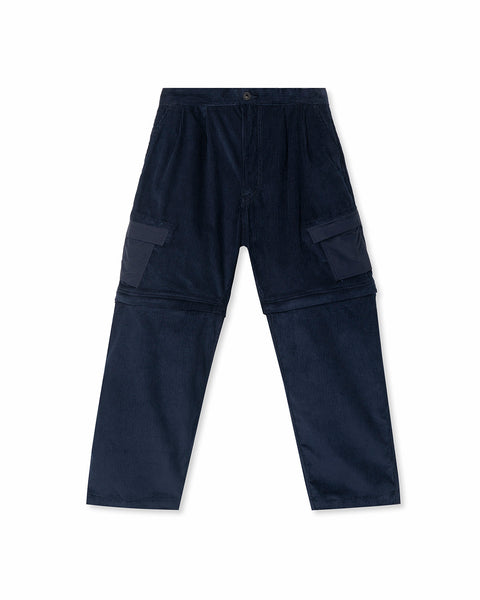 Convertible Corduroy Zip Off Pant - Navy