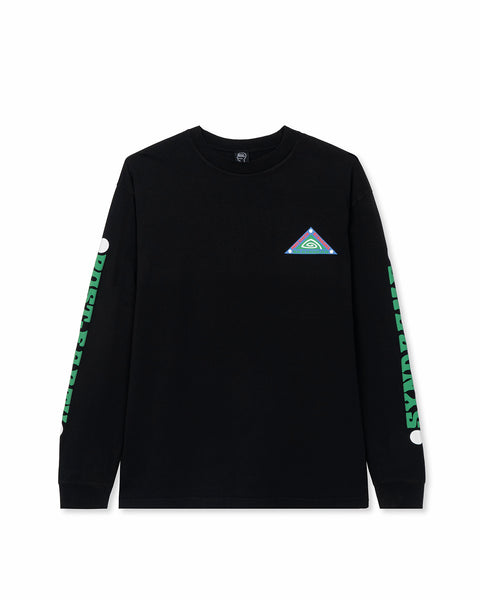 Post Earth Syndrome Long Sleeve Shirt - Black
