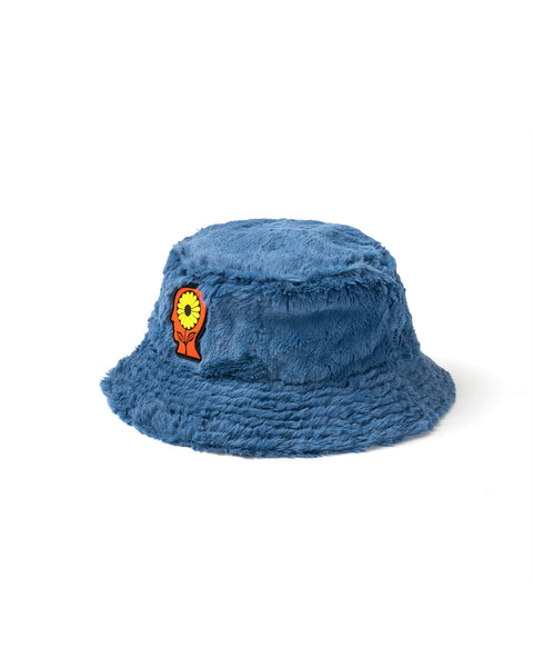 Reversible Sunflower Bucket Hat - Blue