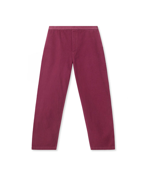 Washed Hard Ware/ Soft Wear Carpenter Pant - Plum