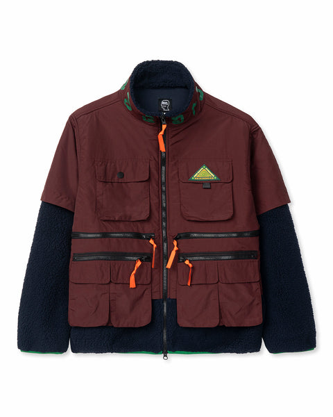 Post Earth Syndrome Fishing Fleece - Burgundy Multi