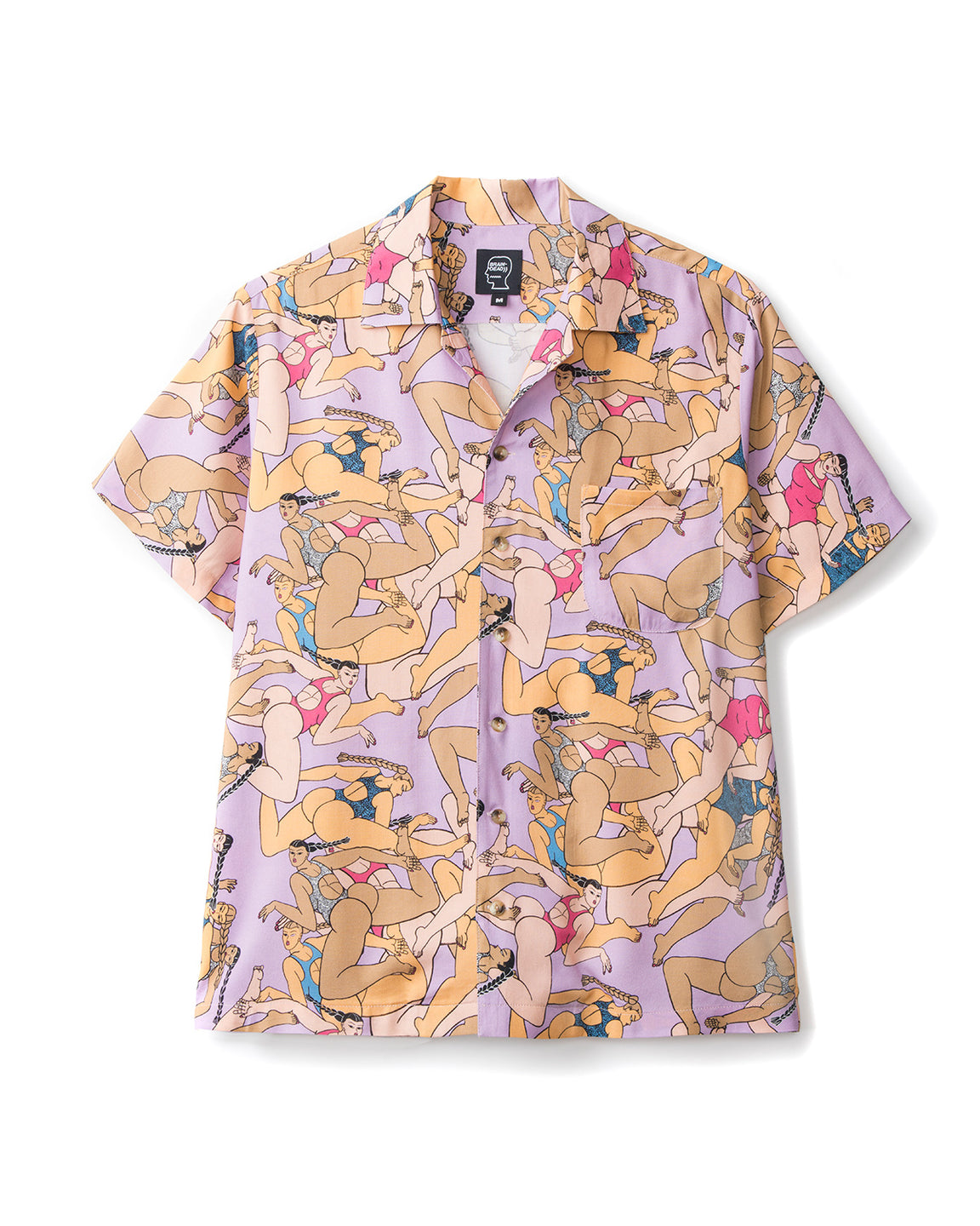 Rayon Hawaiian Shirt - Women Pink