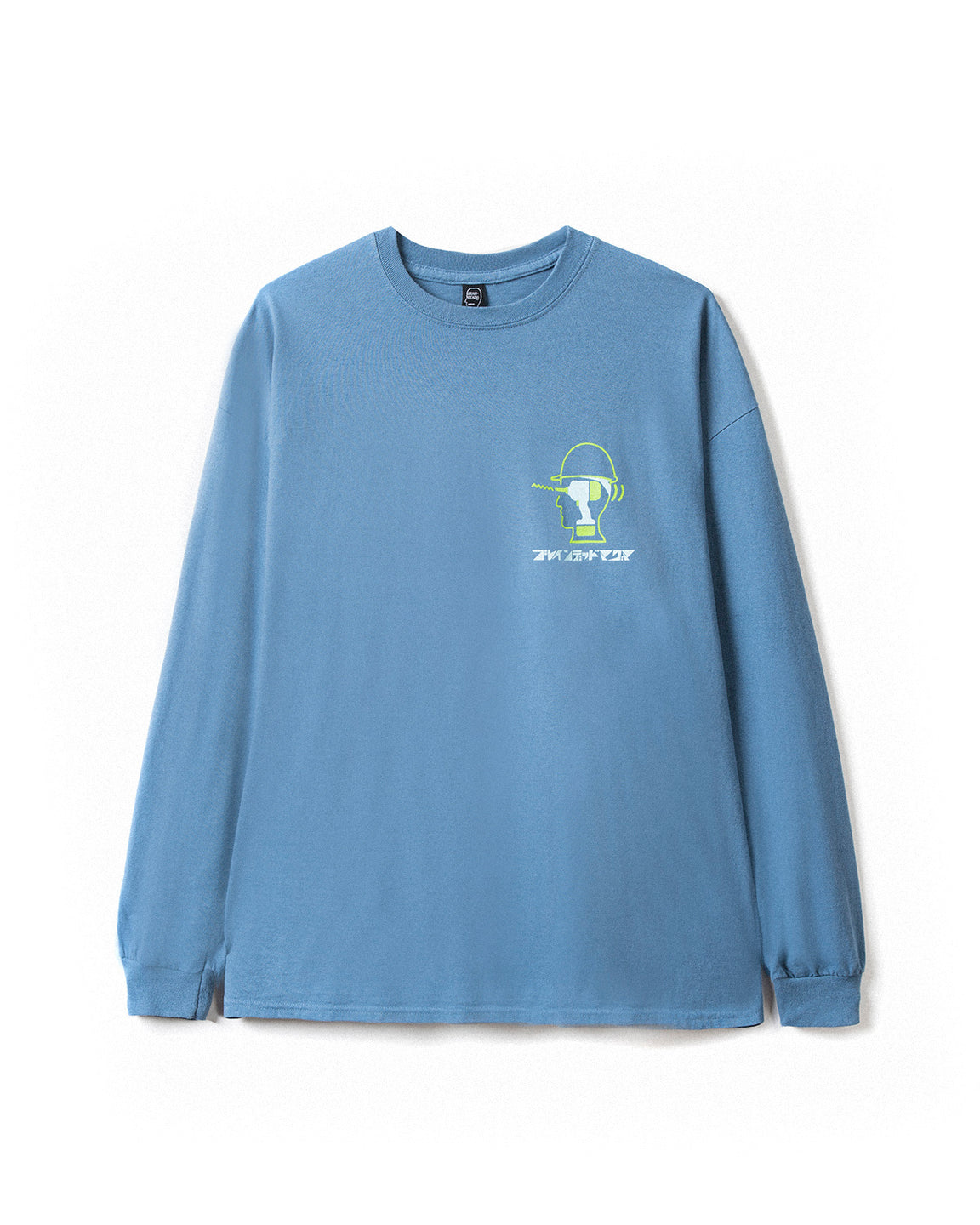 Magma x Braindead Long Sleeve Tee - Indigo