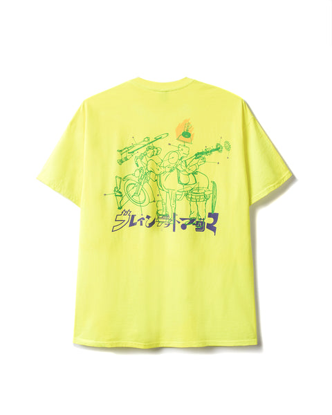 Magma x Braindead T-shirt - Electric Yellow