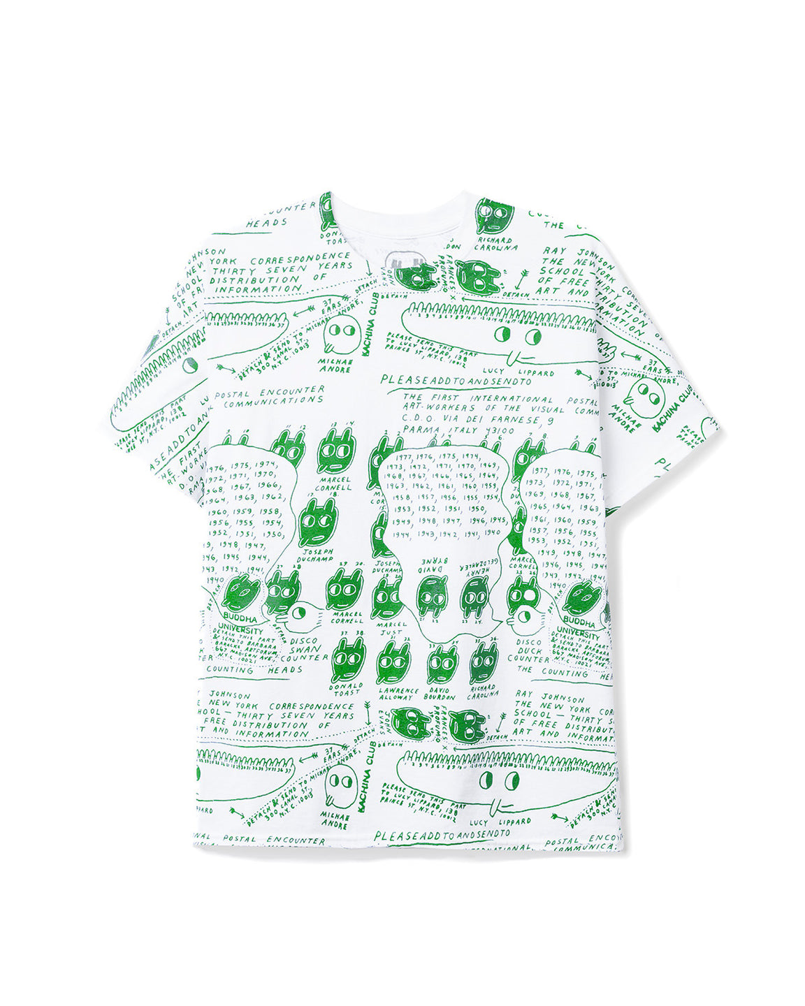 Ray Johnson Estate All-Over-Print T-shirt - Cream/Green