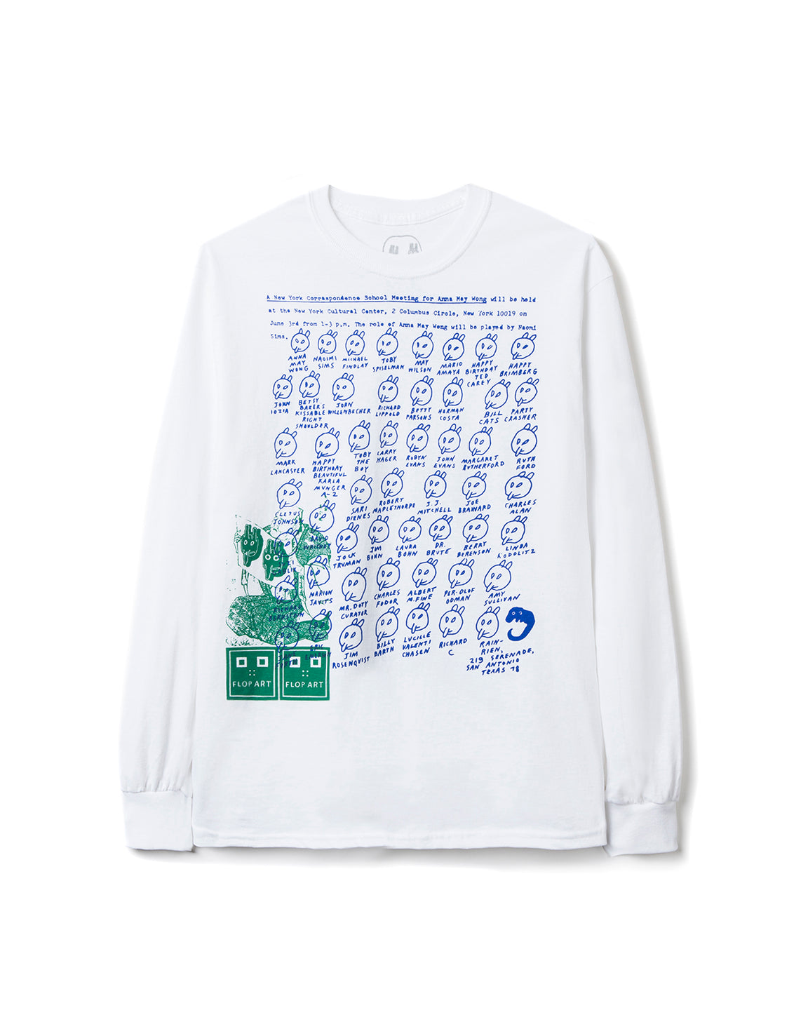 Ray Johnson Estate x Brain Dead Long Sleeve Tee - White
