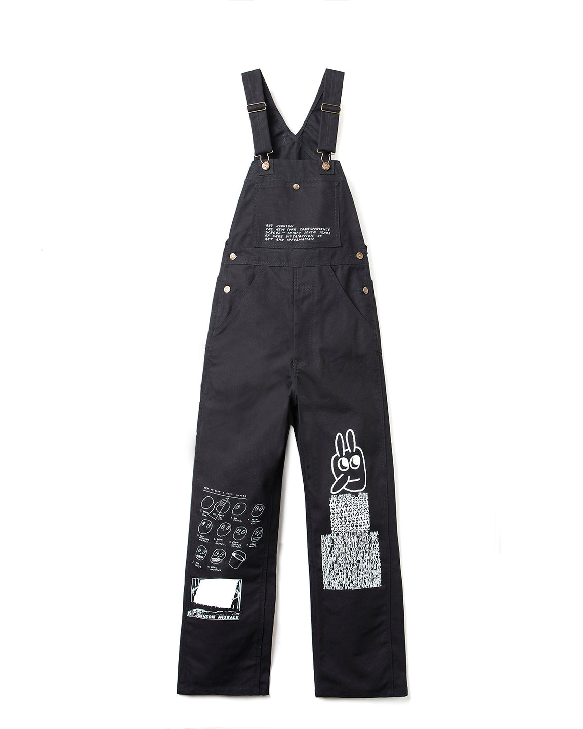 Ray Johnson Estate x Brain Dead Overalls - Black