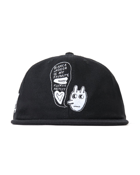 Ray Johnson Estate x Brain Dead Embroidered 6 Panel hat - black
