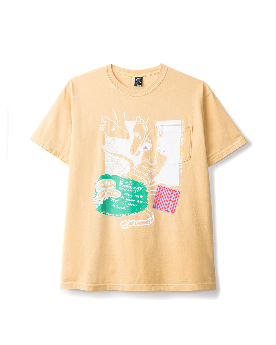 Braindead - Medication Tee - Yellow - front