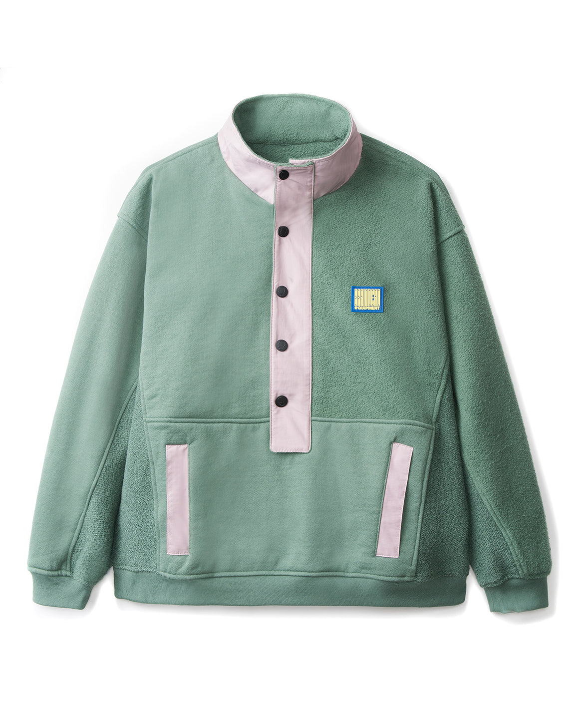 Mock Neck Pullover - Green