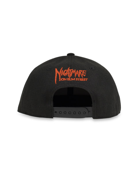 A Nightmare On Elm Street x Brain Dead Snapback Cap - Black
