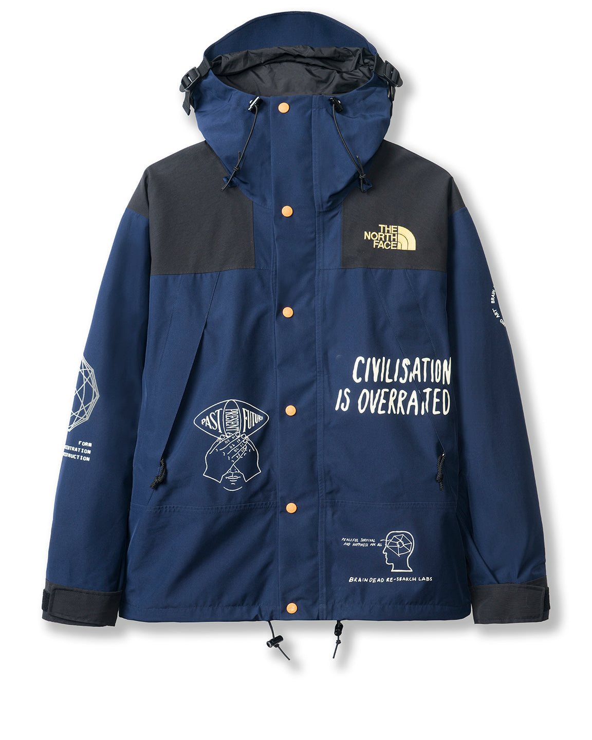 Brain Dead x The North Face Mountain Jacket - Montague Blue