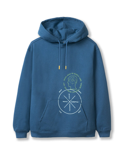 Brain Dead x The North Face Drop Shoulder PO Hoodie - Shady Blue