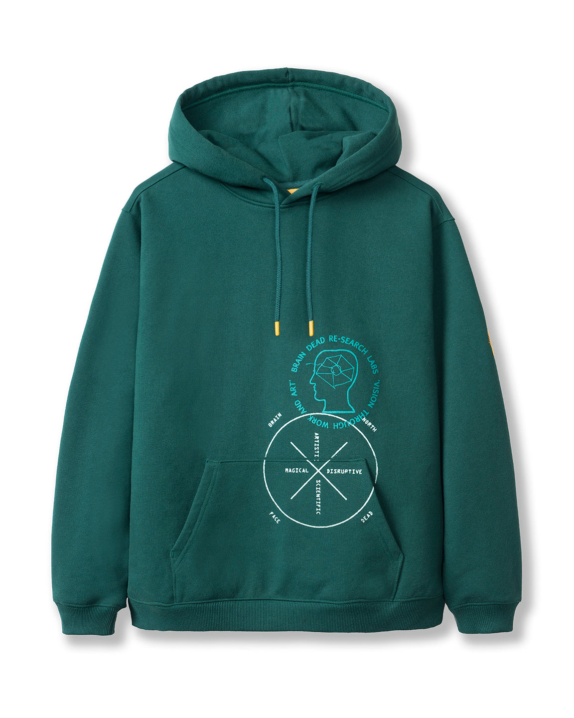 Brain Dead x The North Face Drop Shoulder PO Hoodie - Night Green