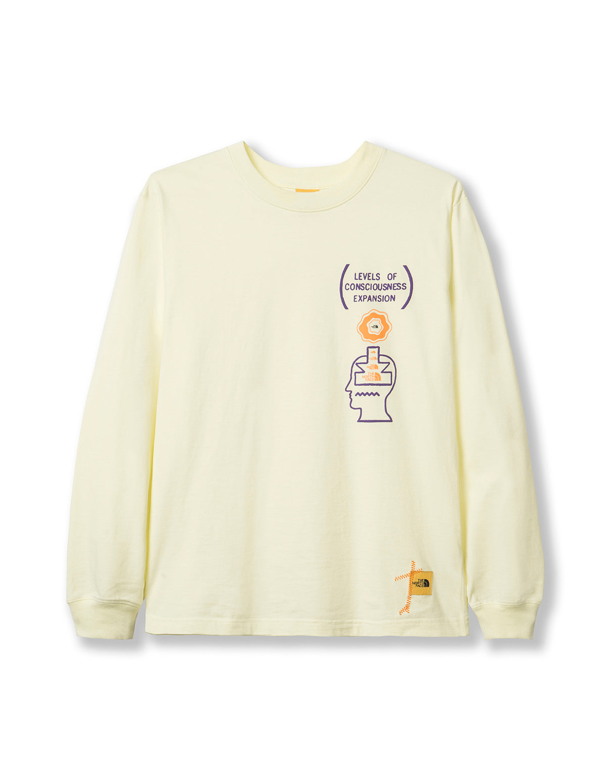 Brain Dead x The North Face Long Sleeve Tee - Tender Yellow