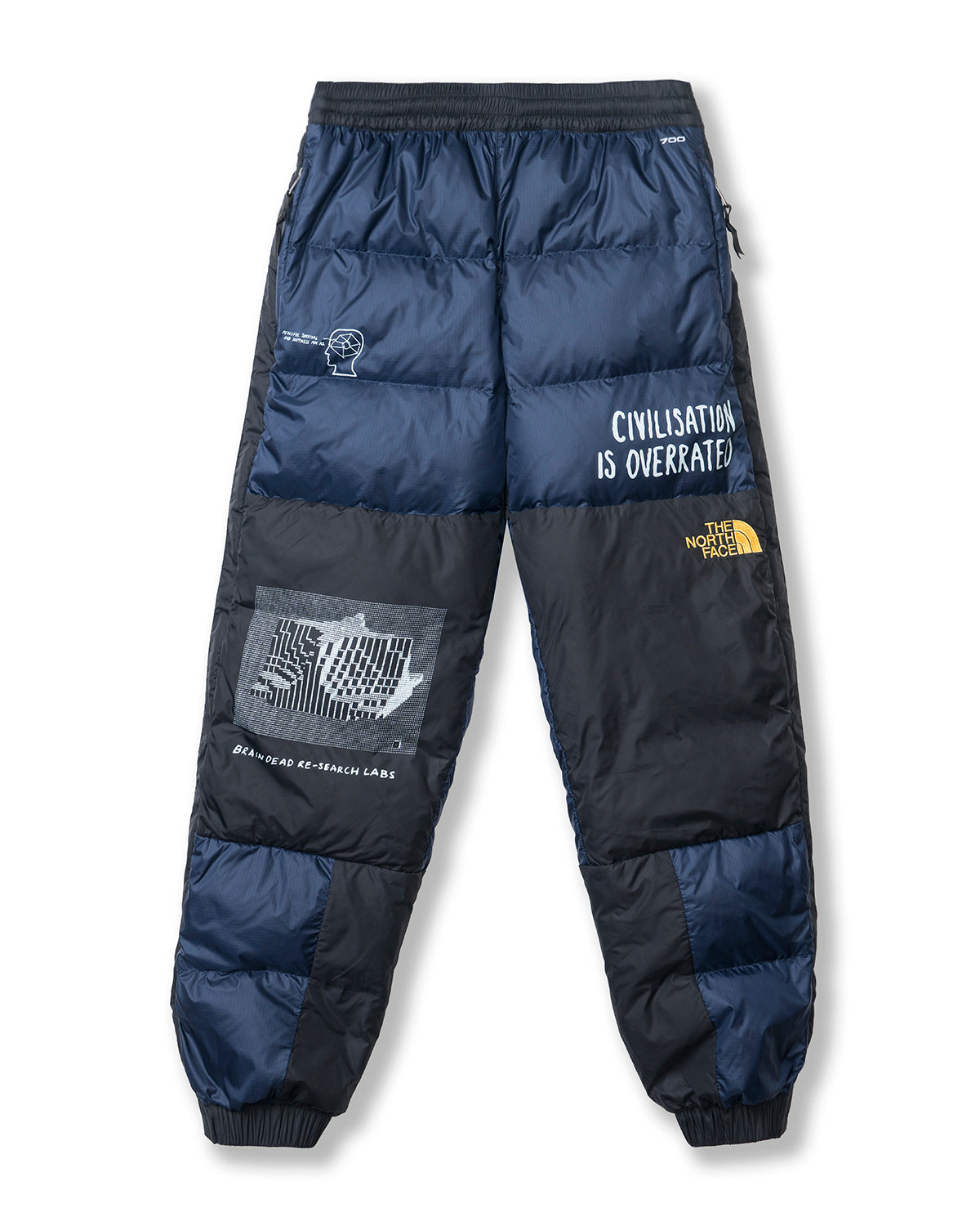 Brain Dead x The North Face Retro Nuptse Pant - Montague Blue