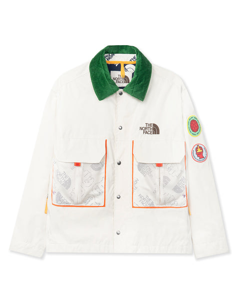 The North Face x Brain Dead 76 Oversized Mountain Chore Coat - Vintage White