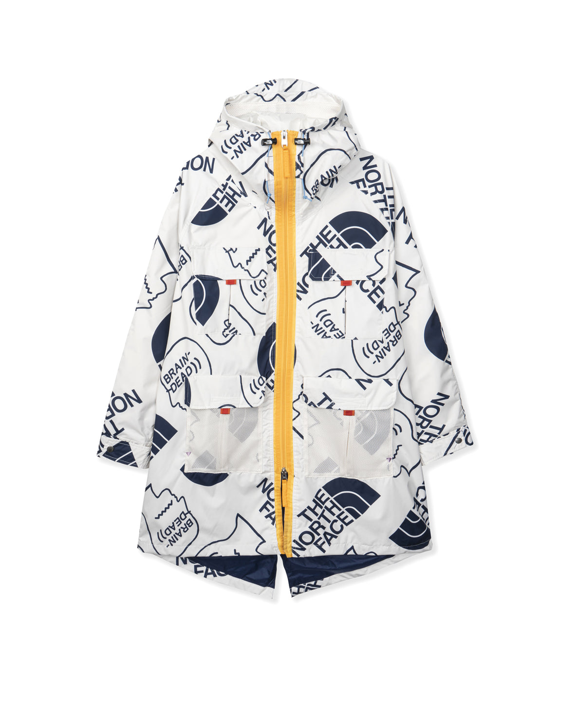 The North Face x Brain Dead 76 Oversized Mountain Parka - Vintage White