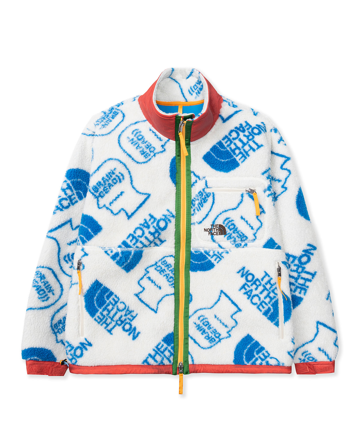 The North Face x Brain Dead Extreme Pile Full Zip Fleece - White